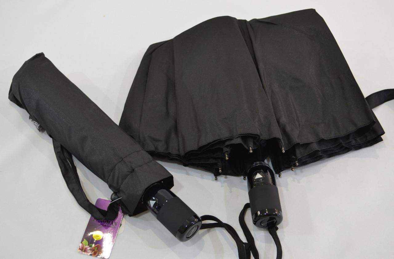 """Мужской зонт полуавтомат оптом на 9 спиц из стеклопластика от фирмы """"Flagman"""""""