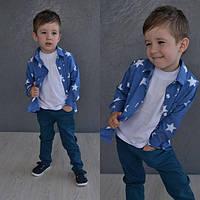Детская летняя рубашка со звездами 92-100