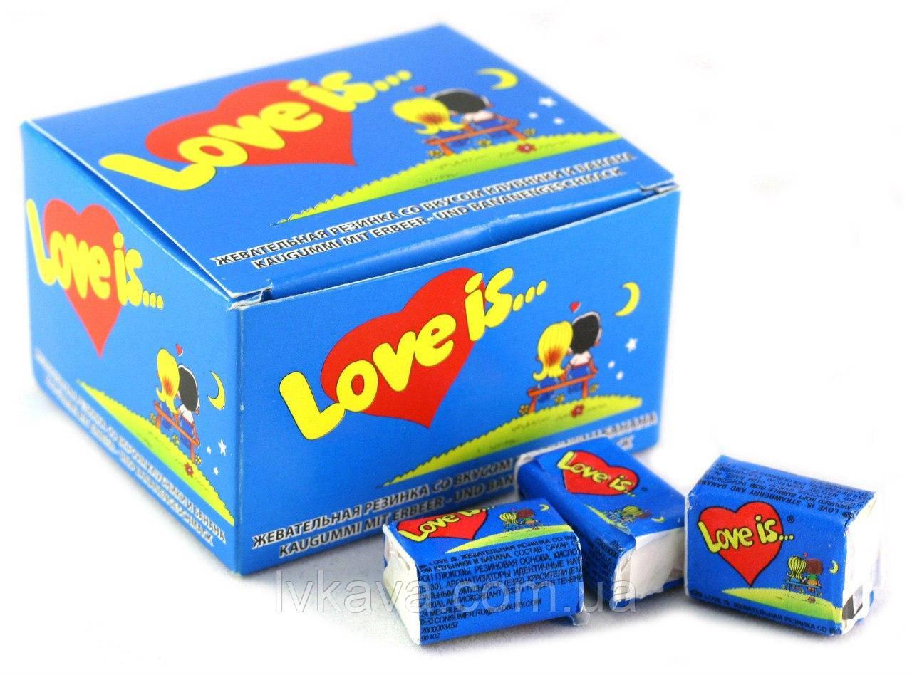 Жевательная резинка  Love is со вкусом клубники и банана , 4,2  гр х 100 шт
