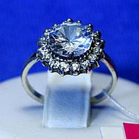Серебряное кольцо с цирконием сиреневым 1015сир, фото 1