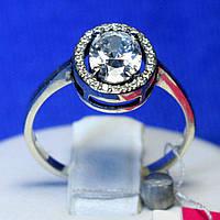Кольцо серебро с фианитом 11095