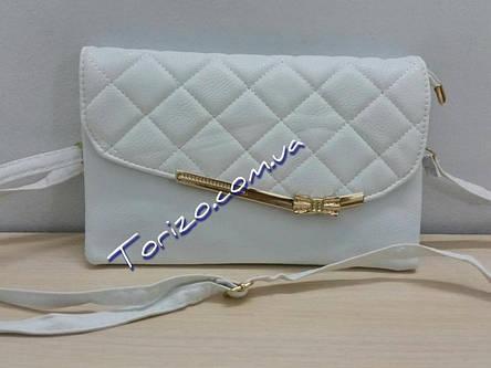 Стильный женский стеганый клатч 26х16см кожзам сумочка женская, фото 2