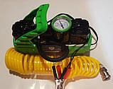 Компрессор, 12V, 10Aтм, 72 л/мин., 2-ух поршневый, клеммы, спускной клапан , фото 2