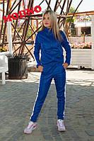 Спортивный женский костюм из полированного эластика (5 цветов)