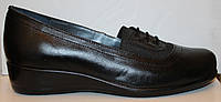 Туфли на танкетке большого размера кожаные, женские туфли 38-44от производителя модель ВБ-Астра