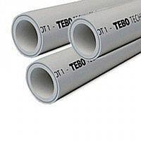 """✅ Труба армированная """"STABI"""" (зачистная) Ø 25 мм """"TEBO"""" (цвет - серый)"""