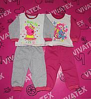 Пижама детская Пеппа/Лошадка/Микки/Холодное сердце начес
