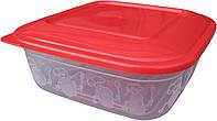 """Пищевой контейнер пластиковый (судочек) 0,7 литра """"ПолимерАгро""""  + Видео"""