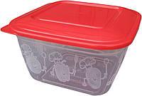 """Пищевой контейнер пластиковый (судочек) 1 литр """"ПолимерАгро""""  + Видео"""