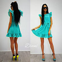 Женское стильное платье прошва (2 цвета) ментол, 42-44
