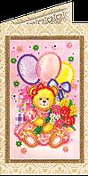 Набор для вышивки бисером «Открытка» Праздник детства