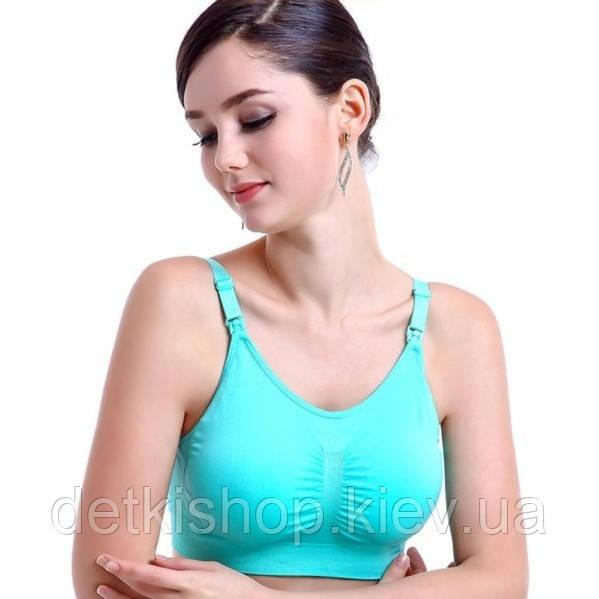 Бюстгальтер-топ для беременных и кормящих 8877 (зелёный)