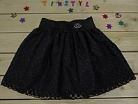 Школьная юбка  в складку  на рост 116-146 см