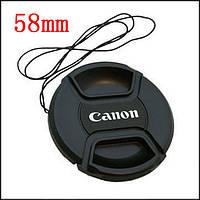 Dilux - Canon крышка для объектива, диаметр - 58мм, со шнурком, фото 1