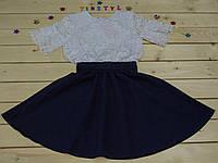 Платье школьное для девочки на рост 128-164 см