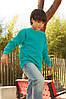 Детский реглан однотонный изумрудный 039-77, фото 4