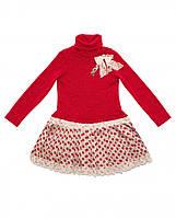 Стильное платье с длинным рукавом для девочки