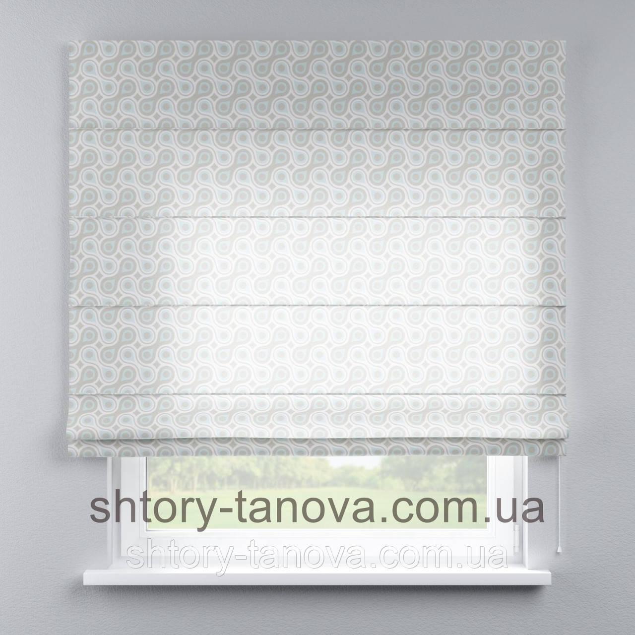 Римская штора с геометрическим принтом 160x170 см