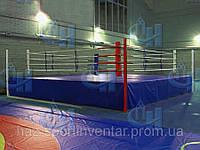 Боксерский ринг на помосте