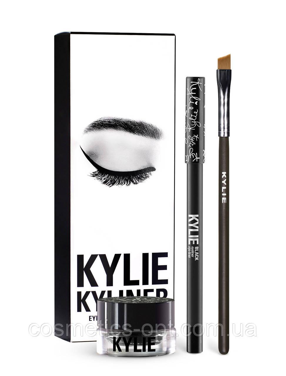 Гелевая подводка для глаз Kylie Kyliner Black (реплика)