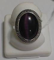 Кольцо серебряное с улекситом Кошачий глаз