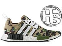 Мужские кроссовки Adidas NMD R1 x Bape Camo BA7326