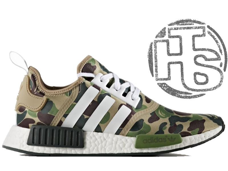 мужские кроссовки Adidas Nmd R1 X Bape Camo Ba7326 цена 1 099 грн