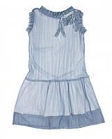 Красивое платье фирмы Byblos. 2- х слойнное- внутри нежно-голубой трикотаж
