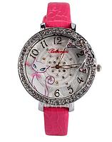 Кварцевые часы со стразами Белый Кот.