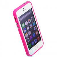 Чехол бампер для iPhone 5 Bampers розовый