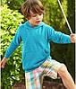 Детская толстовка с капюшоном утепленная бирюзовая 043-ZU, фото 4