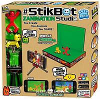 Игровой набор для анимационного творчества Stikbot S2 Pets – Студия Z-Screen, 2 фигурки, штатив, сцена