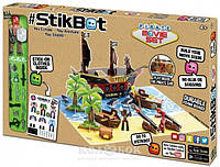 Игровой набор для анимационного творчества Stikbot S2 – Остров сокровищ, 1 фигурка, наклейки, аксессуары