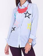 Удлинённая блузка с рубашечным воротником