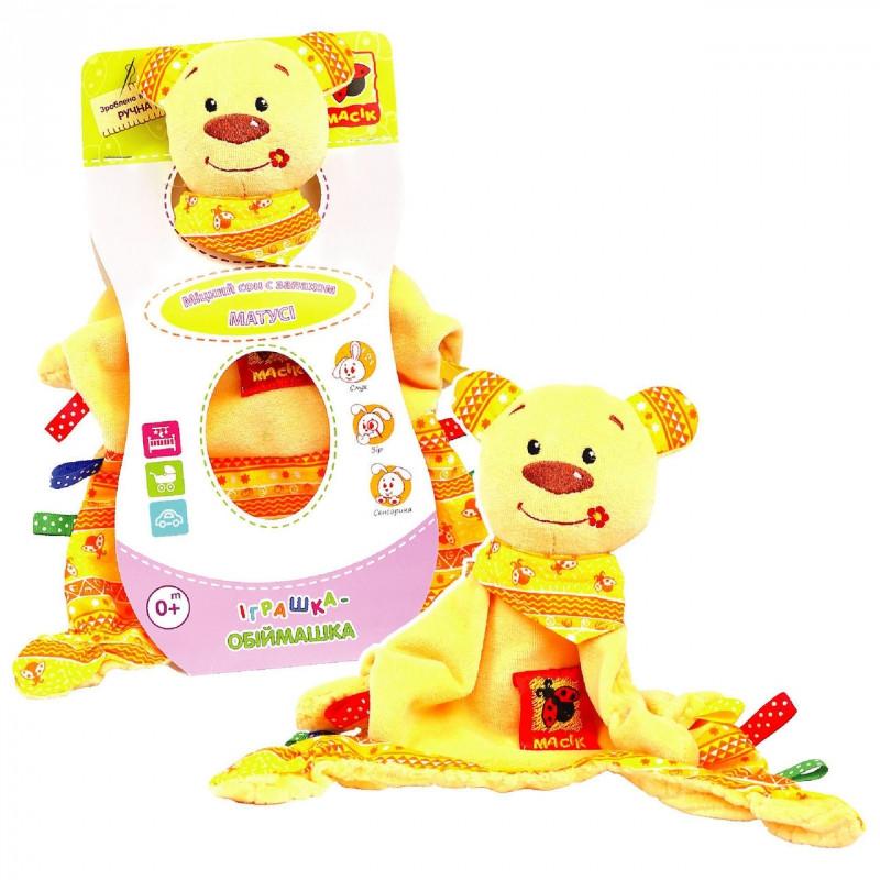 Игрушка Обнимашка Медвежонок Тихонядля малышей Масик MK 4101-01