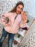 Женская кофта с вышивкой на рукаве(расцветки)