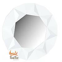 Настенное зеркало в прихожую белое