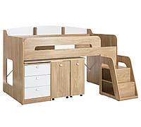 Кровать-чердак с выдвижным столом