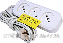 Подовжувач електричний EMP 6А (3 МЕТРИ) електро переноска