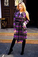 Женское пальто с капюшоном под пояс из кашемира. Ткань: кашемир. Размер: с, м, л.