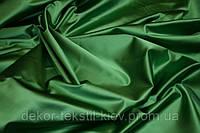 Атлас зелёный, ткань