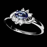 Кольцо серебро 925 танзанит 18,5р