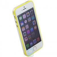 Чехол бампер для iPhone 5 Vser желтый
