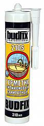Герметик санитарный силиконовый 310 мл (белый) Budfix 210S