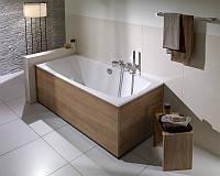 Установка прямой акриловой ванны