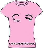 Футболка Lashmakera, розовая