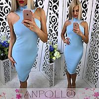 Женское повседневное платье (6 цветов) малиновый