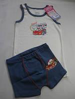 Комплект нижнего белья для мальчика тачки
