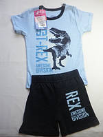 Комплект футболка+шорты диназавр