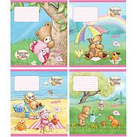 Тетрадь Popcorn Bear 12 листов клетка Kite PO17-232